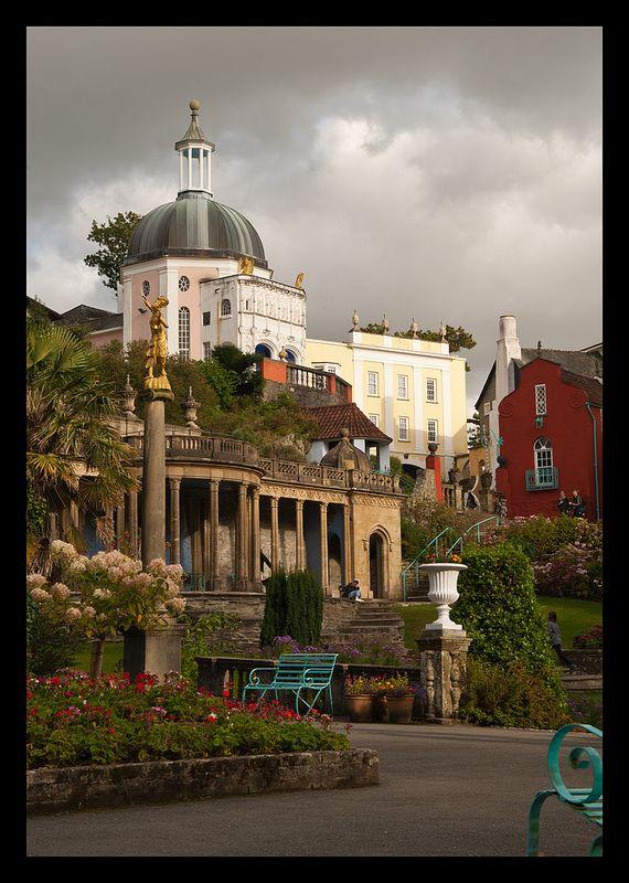 Port Meirion Village 4 by Dave Turner on Flickr.
