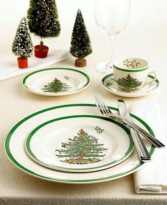 Spode Dinnerware, Christmas Tree Collection - Casual Dinnerware - Dining & Entertaining - Macy's
