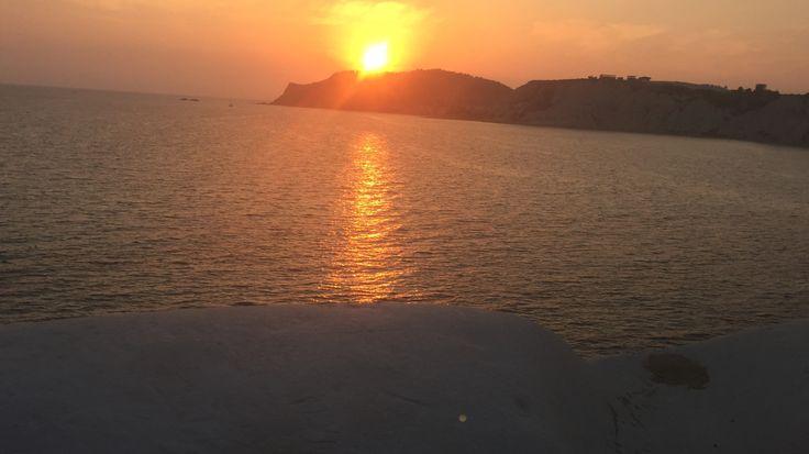 Scala dei turchi tramonto