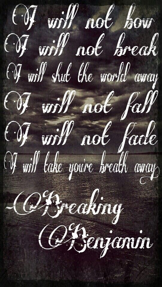 Breaking benjamin-I will not bow.