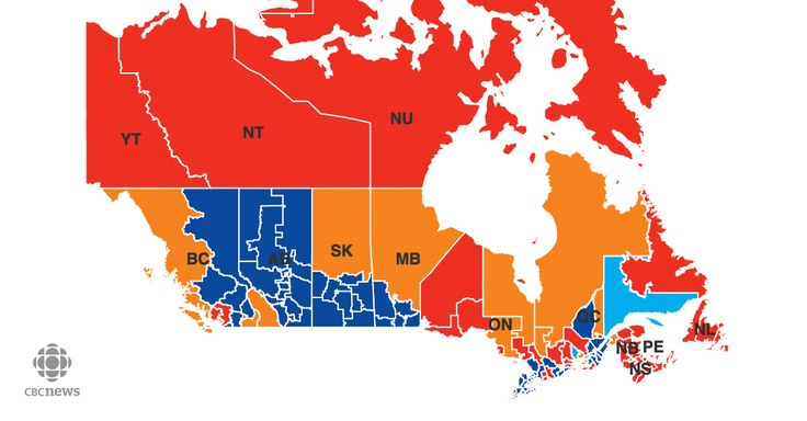 Trudeau Wins!  2015 Election Results from CBC News.