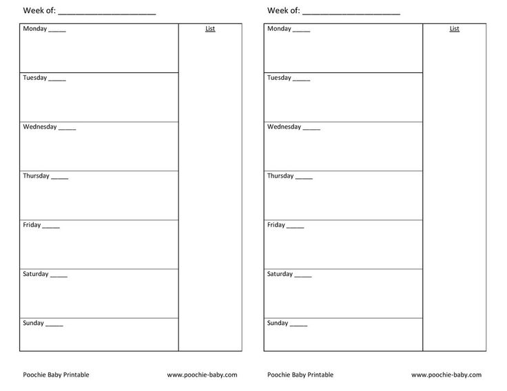 free printable planner page  a5 week on one page undated