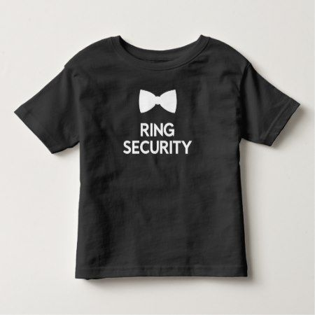 Ring Security Ring Bearer Toddler T-shirt - tap, personalize, buy right now!