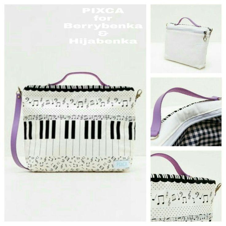 PIXCA purple piano slingbag