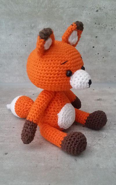 Ravelry: Tiko the Fox, free crochet pattern by Janine, stuffed toy, amigurumi, #haken, gratis patroon (Engels), knuffel, speelgoed, vos, #haakpatroon