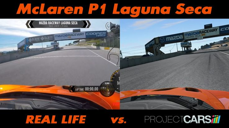 WHich is real and which is video game??? Project CARS Vs Real Life - McLaren P1 @ Laguna Seca