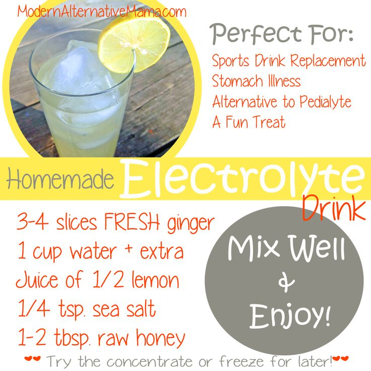 Make this delicious drink instead of sports drinks -- lemon-ginger flavor!