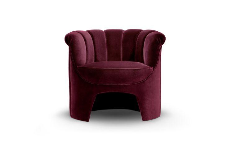 HERA Armchair | Modern Chairs | Velvet Chair | Chair Design | #modernchairs | #livingroomchairs | #armchairs | Find more at: http://brabbu.com/category/upholstery