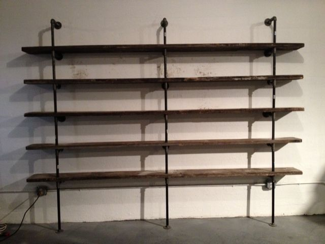 shelves made from black pipe - Google Search