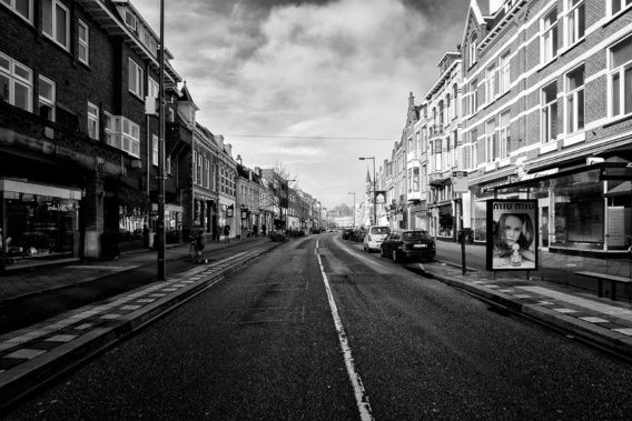 Nieuw in mijn Werk aan de Muur shop: Een verlaten Nachtegaalstraat in Utrecht