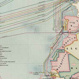 Internet Submarine Cable Map 2013