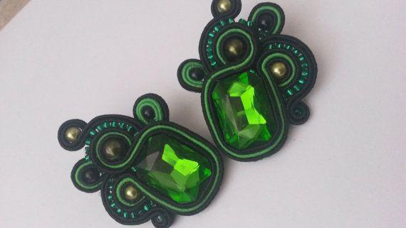 Amazing Soutache earrings by aizhandossum on Etsy