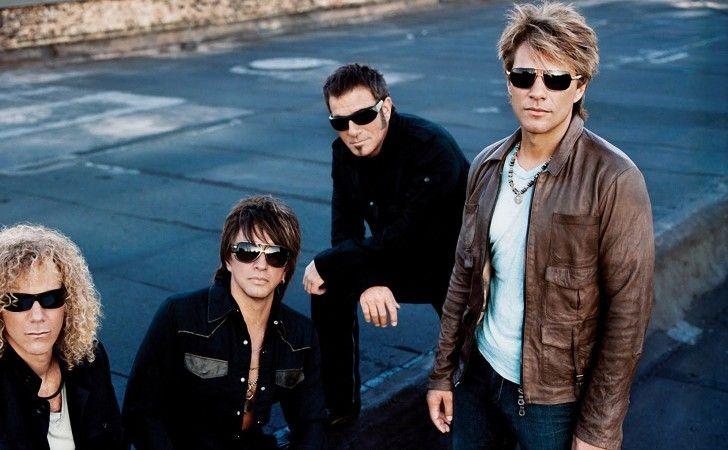 glasögon, Bon Jovi, jackor, frisyr, se