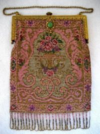Antique French beaded purse, c. 1900