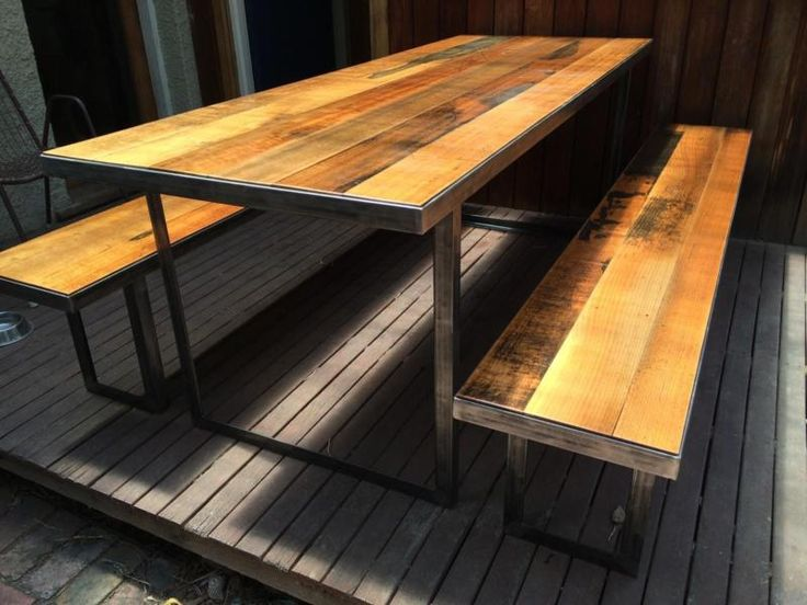industrial recycled timber indoor/outdoor table and bench seats | Dining Tables | Gumtree Australia Darebin Area - Preston | 1072534187