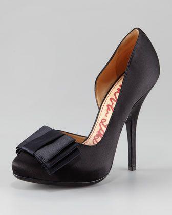 Satin Bow d\'Orsay by Lanvin at Neiman Marcus.Fashion Change, Lanvin Pump, Bows Dorsay, Fashion Style, Wedding Shoes, Lanvin Satin, Bows D Orsay, Satin Bows, Beautiful Shoes