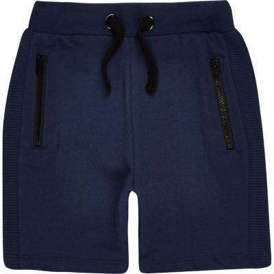 River Island Mini boys navy shorts