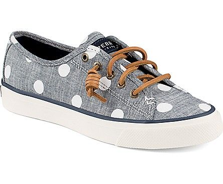 Love chambray and polka dots - Sperry Top-Sider Seacoast Print Sneaker