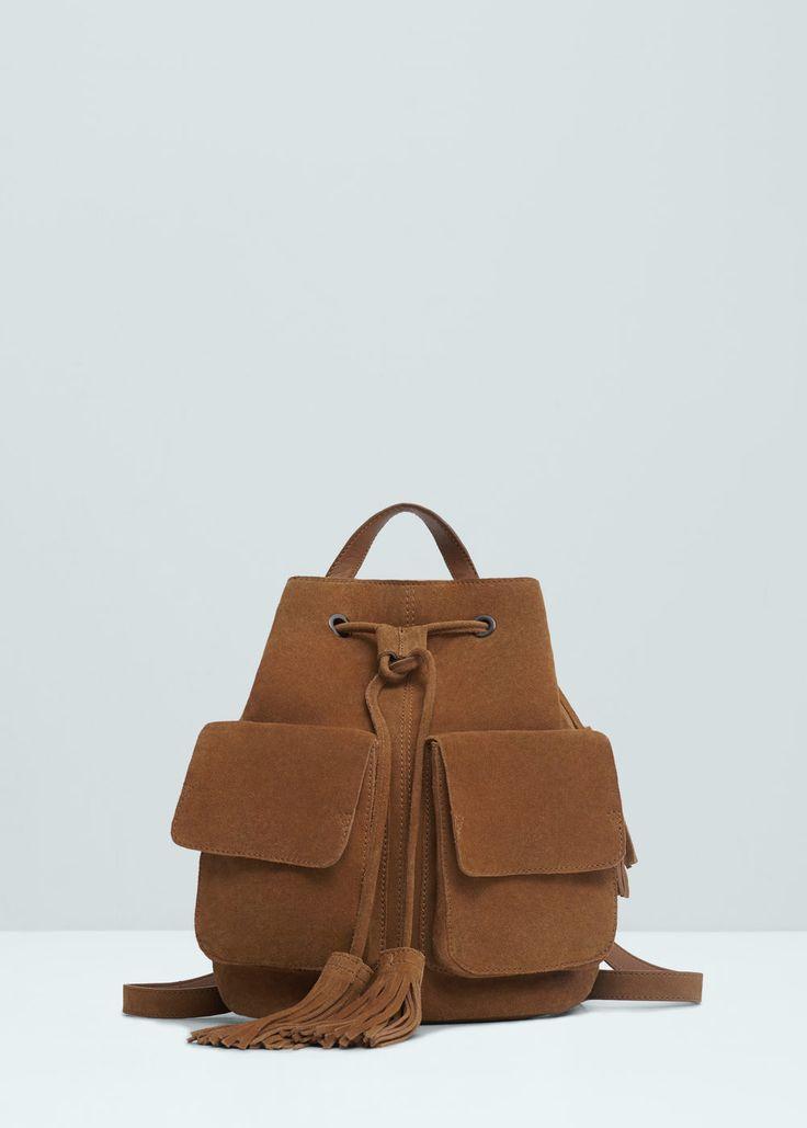 Pocket leather backpack
