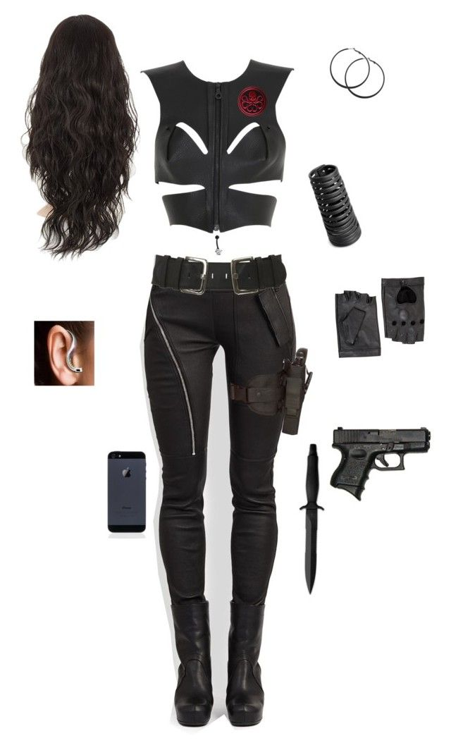 """""""Hydra"""" by gone-girl ❤ liked on Polyvore featuring Rick Owens, Fleet Ilya, Gerber, Forever 21, Holster, BCBGMAXAZRIA, Marvel Comics and Bling Jewelry"""