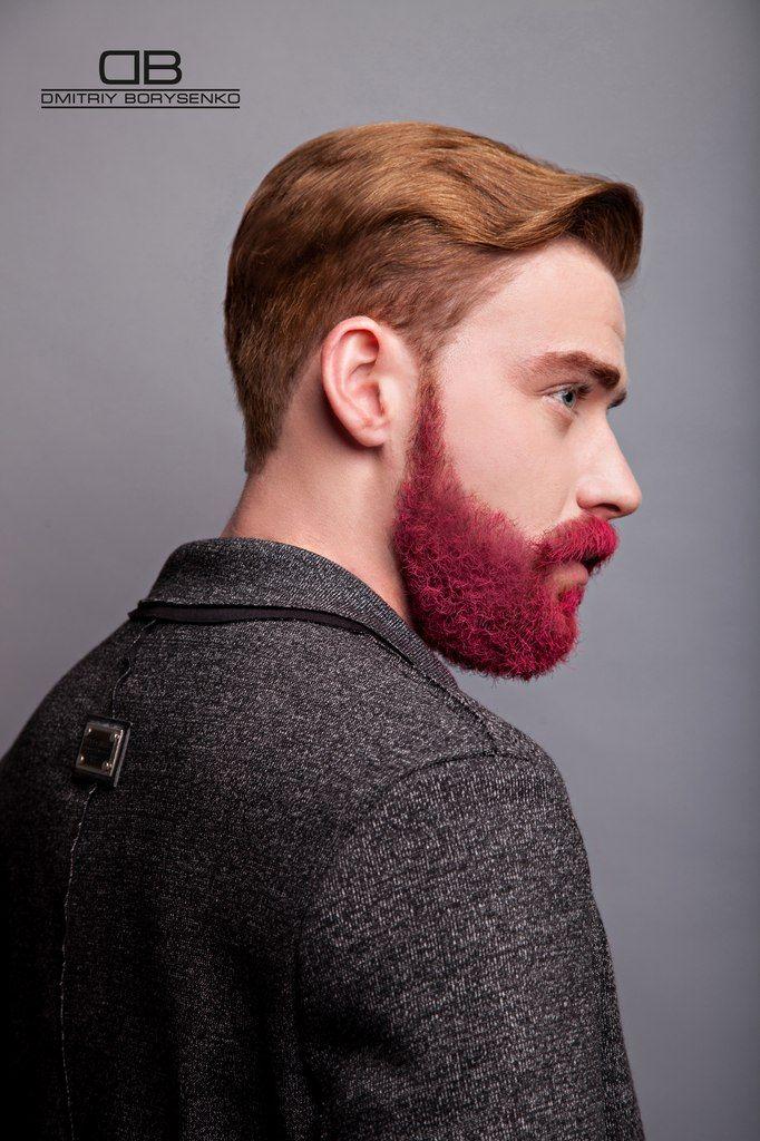 Розовая борода))