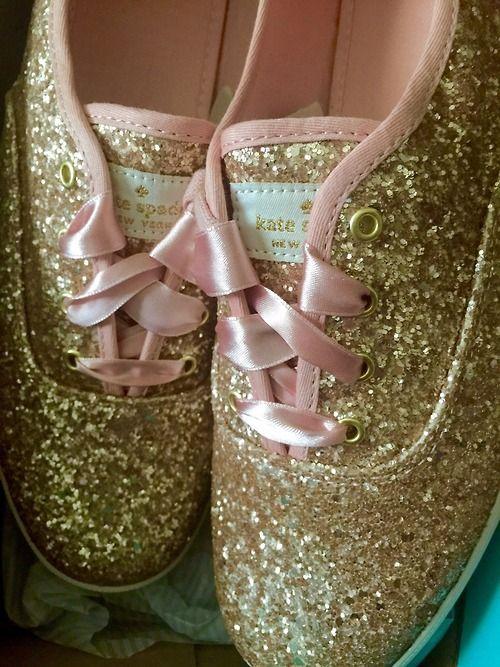 kate spade keds glitter shoes