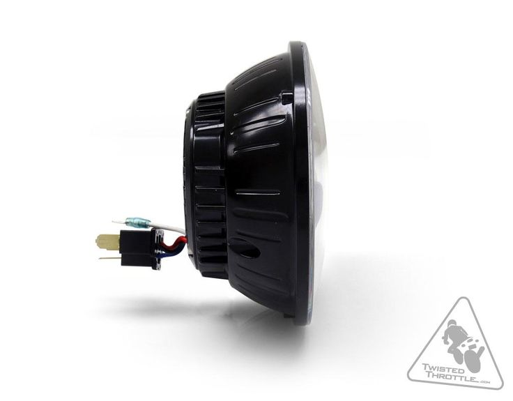 "DENALI M5 DOT LED Headlight Module   5.75"" Round - Black Chrome"