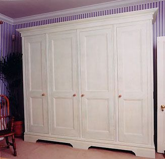 freestanding closets | Free-standing Wardrobe with distressed paint finish