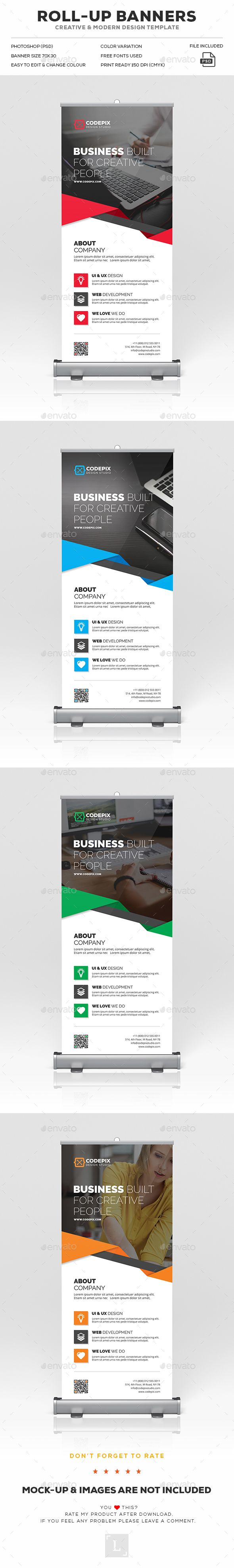 Roll-Up Banner Template PSD. Download here…