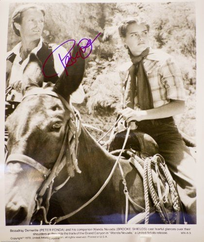 Peter Fonda Autographed 8x10 B&W Photograph - From Wanda Nevada - Signed in Blue Sharpie / Signed In @ niftywarehouse.com #NiftyWarehouse #BoondockSaints #NormanReedus #Film #Movies #CultMovies #CultFilms