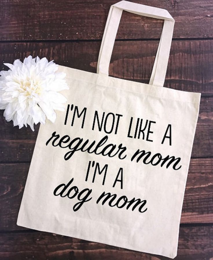 I'm not like a regular mom/I'm a dog mom Tote Bag - What more to say other than we just LOVE cool stuff!