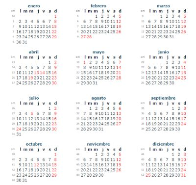 Calendario con Feriados 2017 en Venezuela ~ Feriados y Asuetos 2016