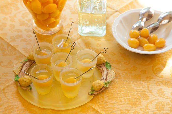 Liquore di mandarini cinesi o kumquat