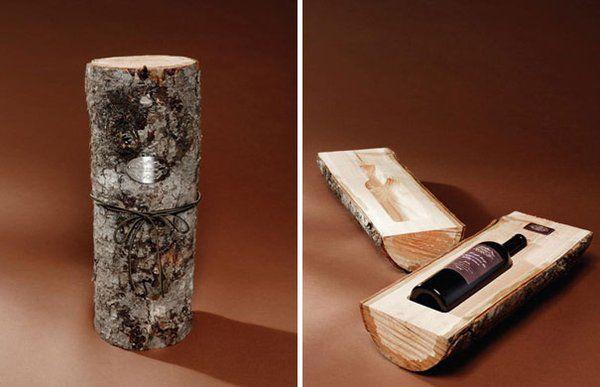 Une boite à bouteille en bois  Design par Cole & Weber United