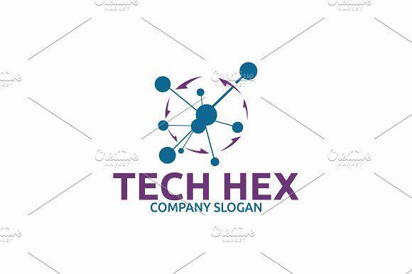 Tech Hex Logo by Brandlogo on @creativemarket