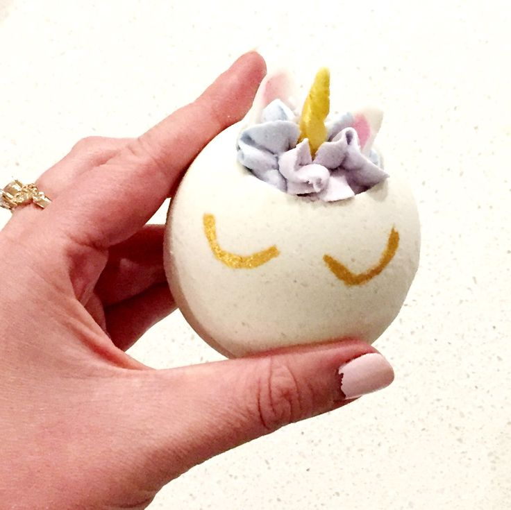 All natural unicorn bath bomb! So perfect for any unicorn lover out there!