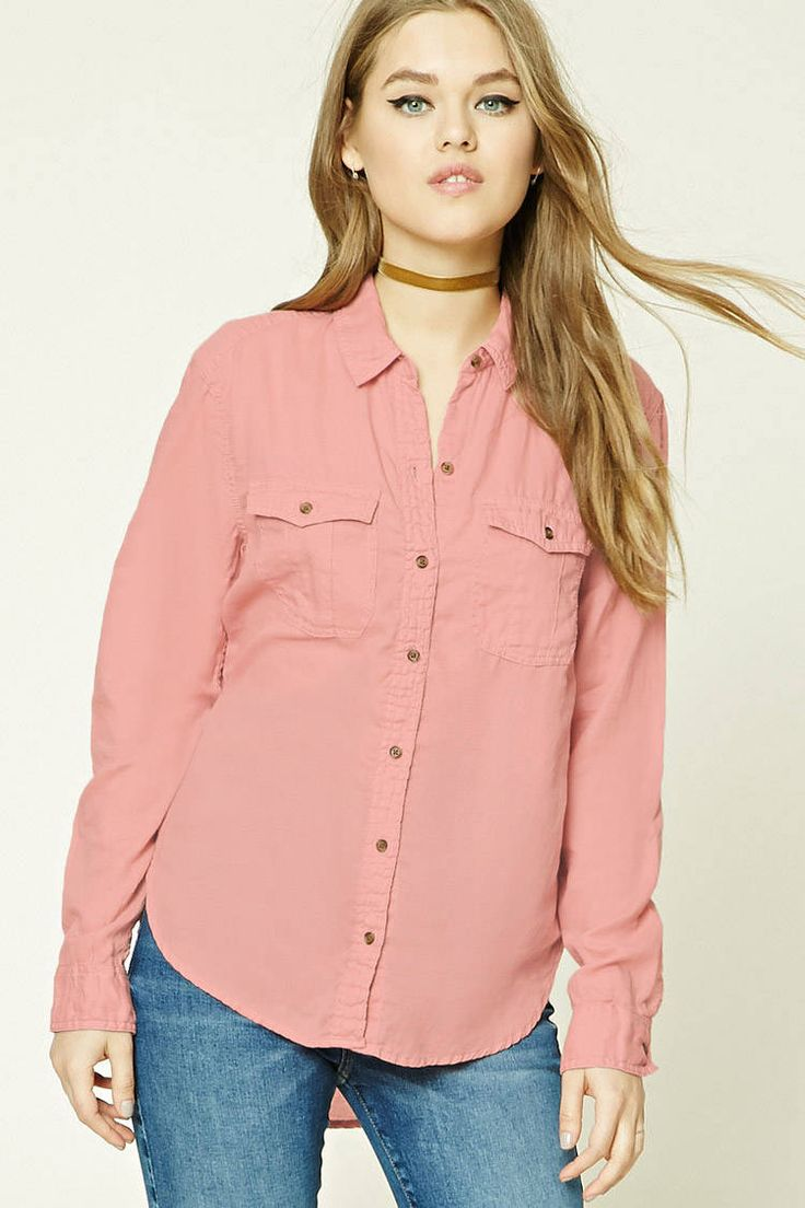 Button-Front Shirt | Forever21