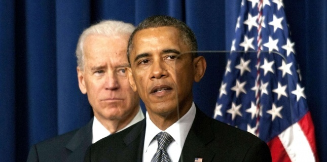 20.01.2013 Barack Obama et Joe Biden Patsy Lynch / Rex  Barack Obama entame officiellement son second mandat.
