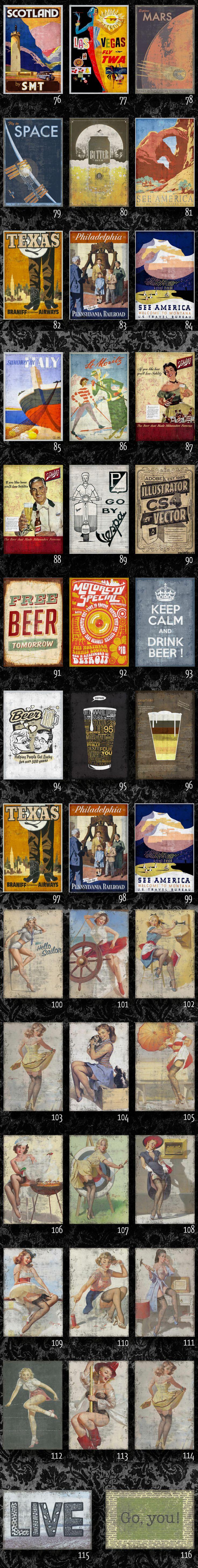Chapas Vintage Retro Impresas. No Cuadros!diseños Exclusivos - $ 55,00 en…