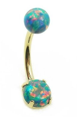 Opal Birthstone Belly Ring!!! I don't have a belly piercing but this is beautiful