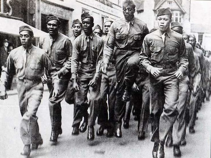 Black American GIs, Park Street, Bristol - During World War II   by brizzle born and bred