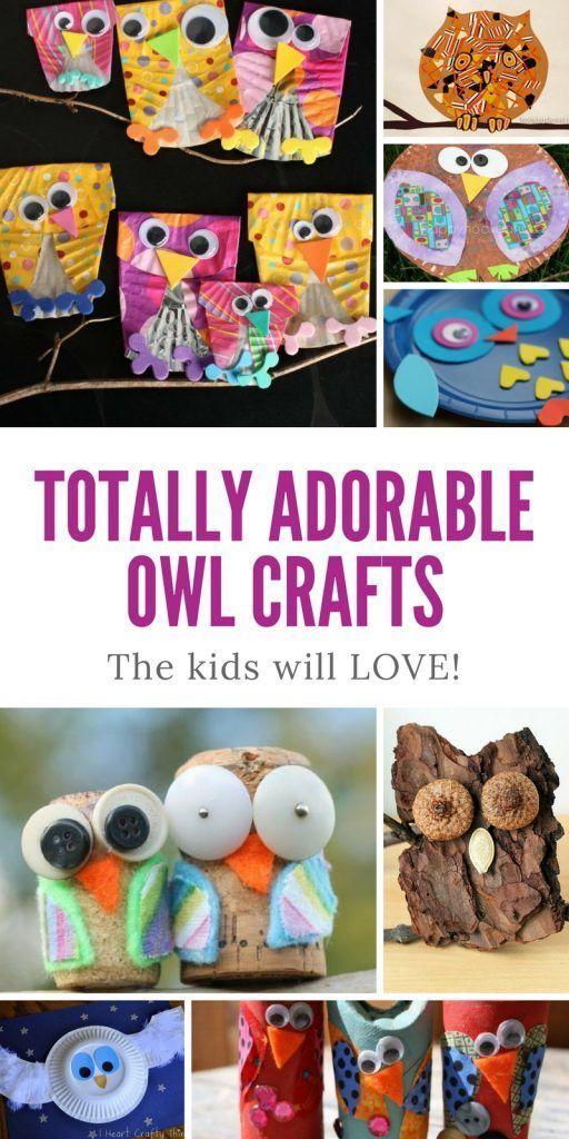 You HAVE to see these Owl Crafts for Kids - they are so STINKING CUTE!