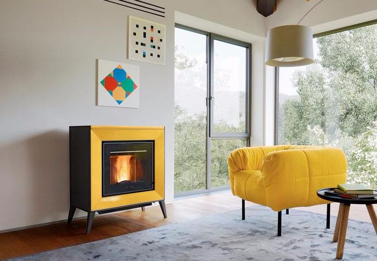 This funky pellet heater will make a statement in any room! Compact and highly efficient, it allows you to reap the benefits of pellet heating and save space