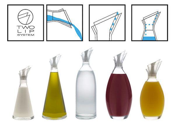 Two Lip System: Olive Oils, Bottle Parfum, Oil Measurement, Interiors Design, No Drip Oil Bottle, Sketch Bottle, Industrial Design, Bottle Design, Olive Oil Bottles