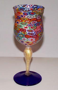 Murano Glass. Harlequin Goblet