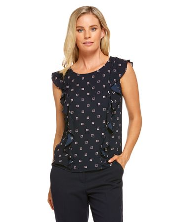 Maudie Frill Sleeve Top