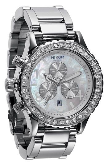 Nixon 'The 42-20 Chrono' Crystal Bezel Watch available at #Nordstrom