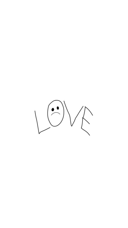 "Lil peep tattoo ""LOVE"",wallpaper iPhone 6 Plus/7 plus/8 plus"