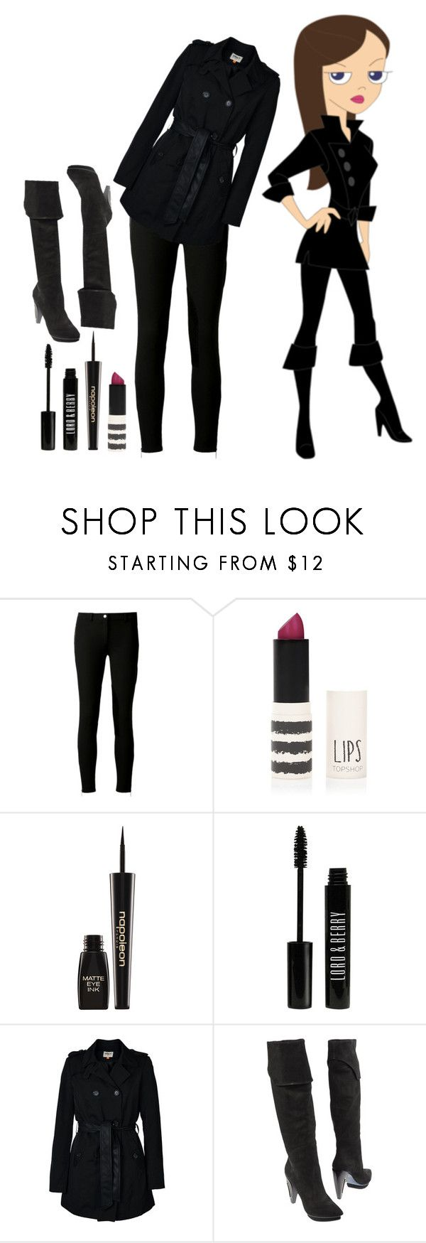"""Phineas and Ferb: Vanessa Doofensmirtz"" by infinitygirl ❤ liked on Polyvore featuring Guide London, Michael Kors, Topshop, Napoleon Perdis, Lord & Berry, ONLY and COSTUME NATIONAL"