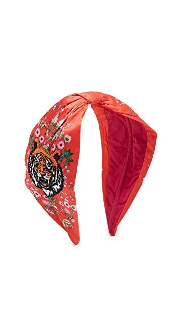 0fbbfced660 NAMJOSH Tiger Embroidered Headband